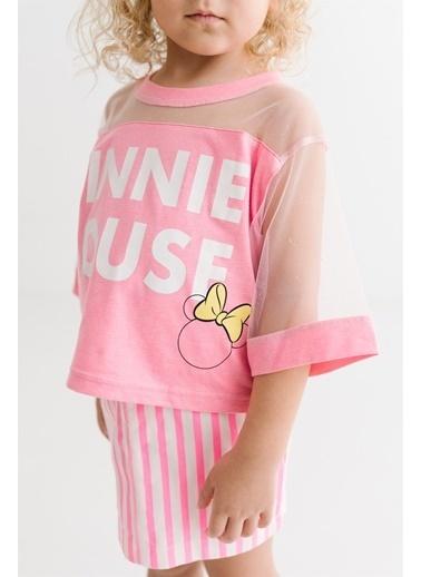 Minnie Mouse Lisanslı Çocuk Takım 17665 Fuşya
